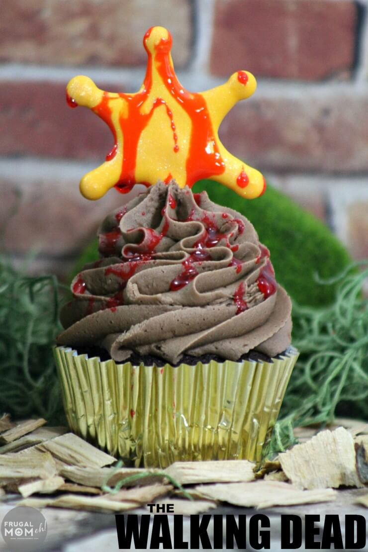 The Walking Dead Cupcakes from Frugal Momeh!