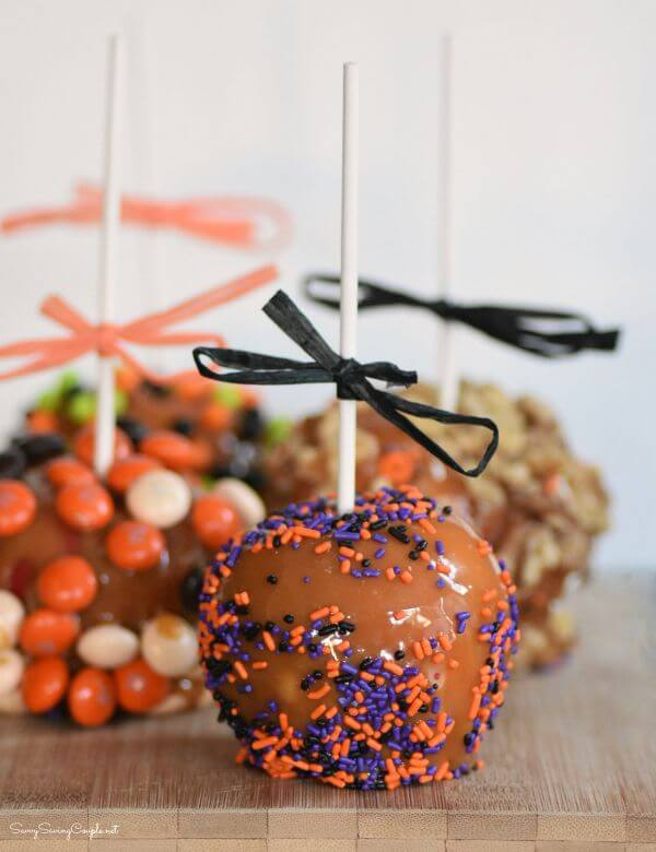 Easy Halloween Caramel Candy Apples from Savvy Saving Couple