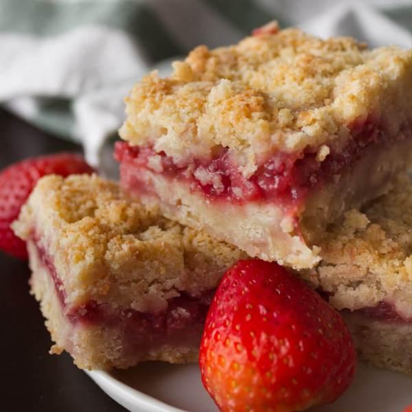 Strawberry Crumb Bars