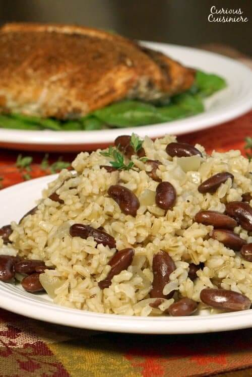Jamaican Rice and Peas (Coconut Rice and Beans) from Curious Cuisiniere