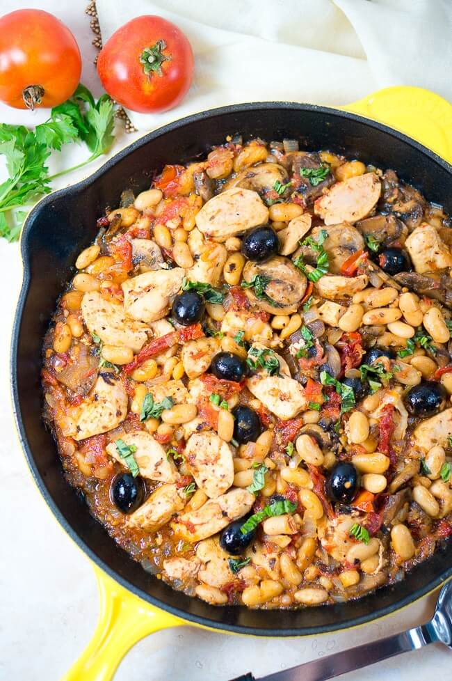 One Skillet Tuscan Chicken from Delicious meets Healthy