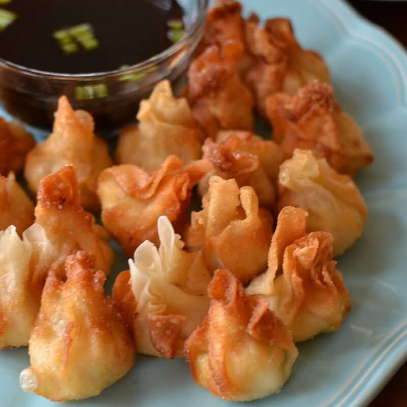 Pepper Jack Chicken Cream Cheese Wontons from Small Town Woman