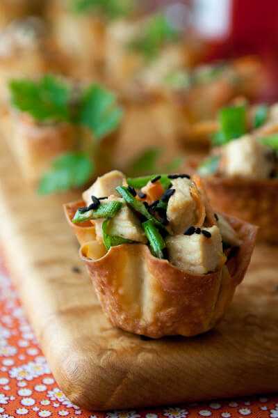 Sesame Chicken Wonton Cups from Healthy Seasonal Recipes