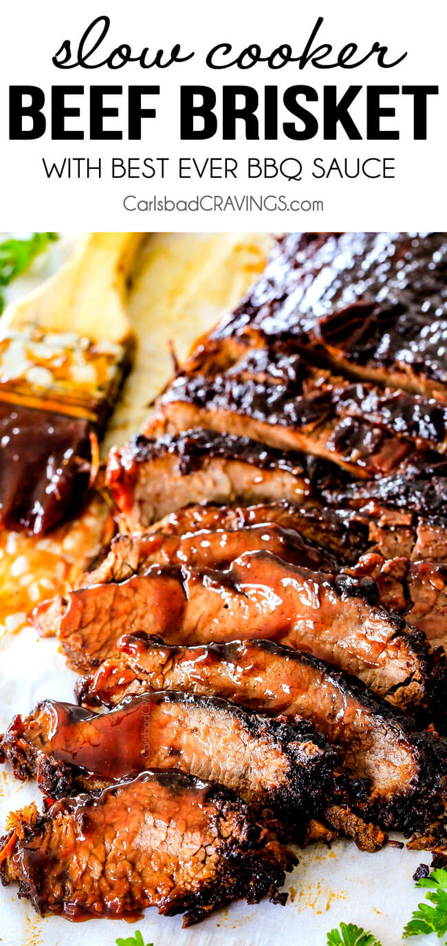 Slow Cooker Beef Brisket from Carlsbad Cravings