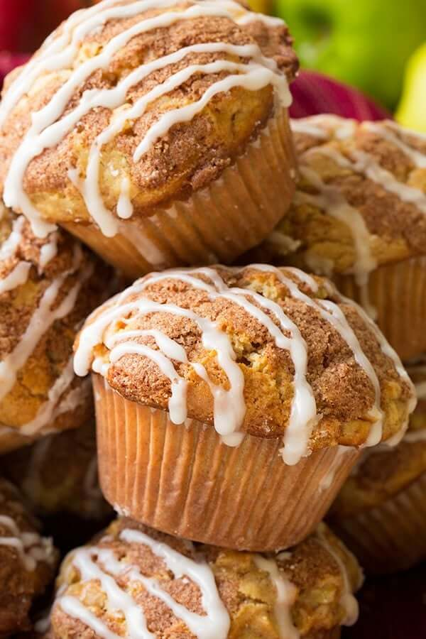 Apple Snickerdoodle Muffins from Cooking Classy