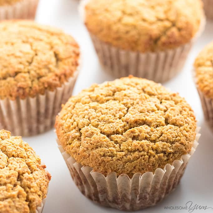 Healthy Pumpkin Muffins Recipe With Coconut Flour & Almond Flour from Wholesome Yum