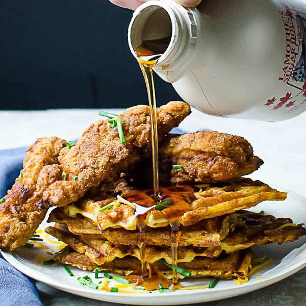Southern-Style Chicken and Waffles from Garlic and Zest