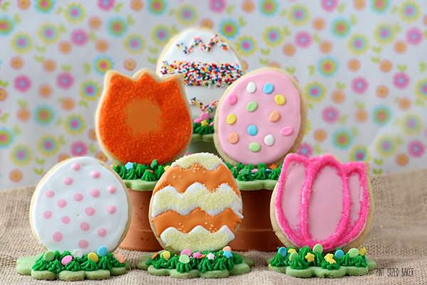 3D Easter Egg Cookies from Pint Sized Baker