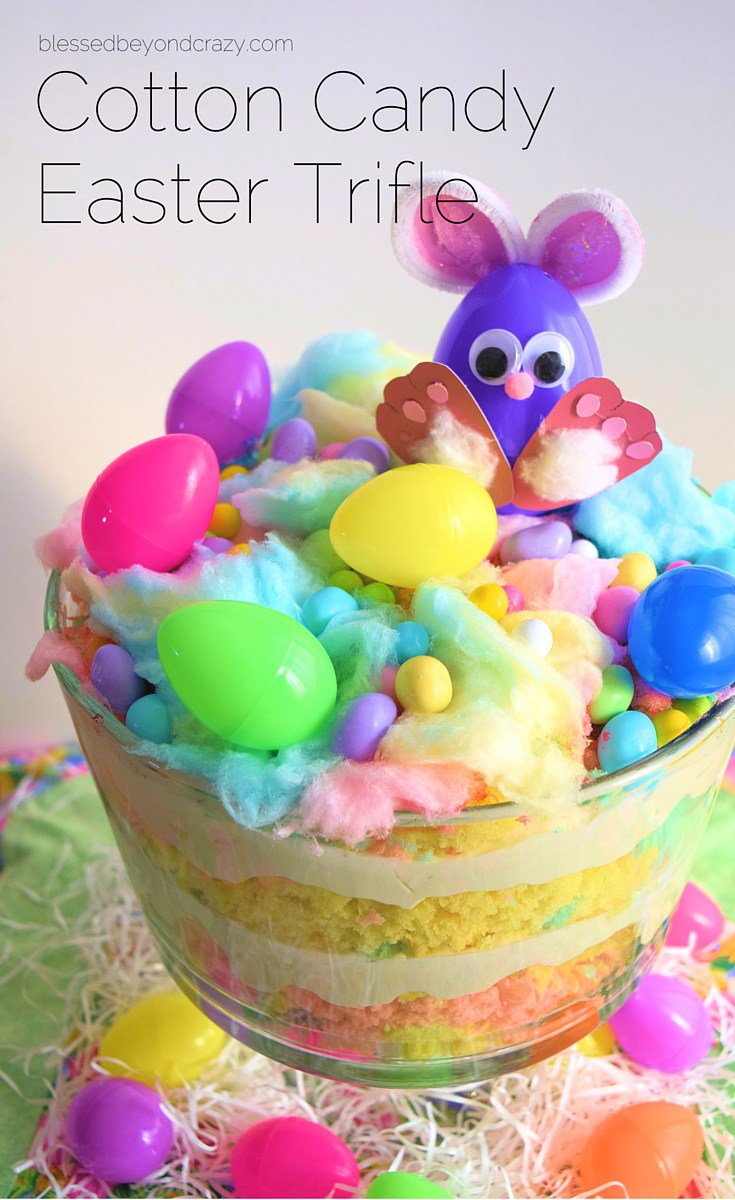 Cotton Candy Easter Trifle from Blessed Beyond Crazy