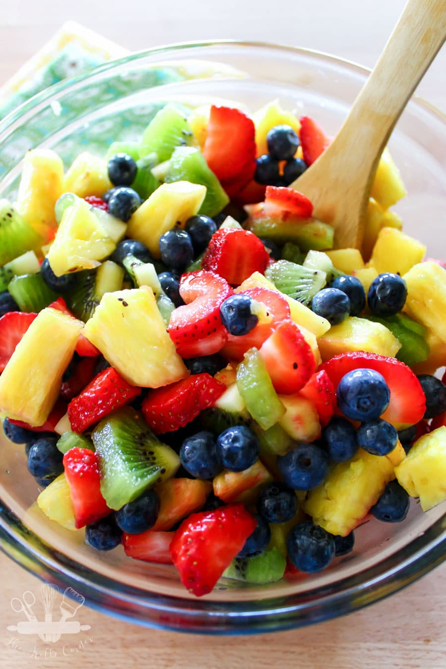 Honey Lime Fruit Salad from Domestically Creative