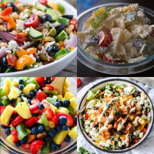 25 Perfect Picnic Salad Recipes from dishesanddustbunnies.com