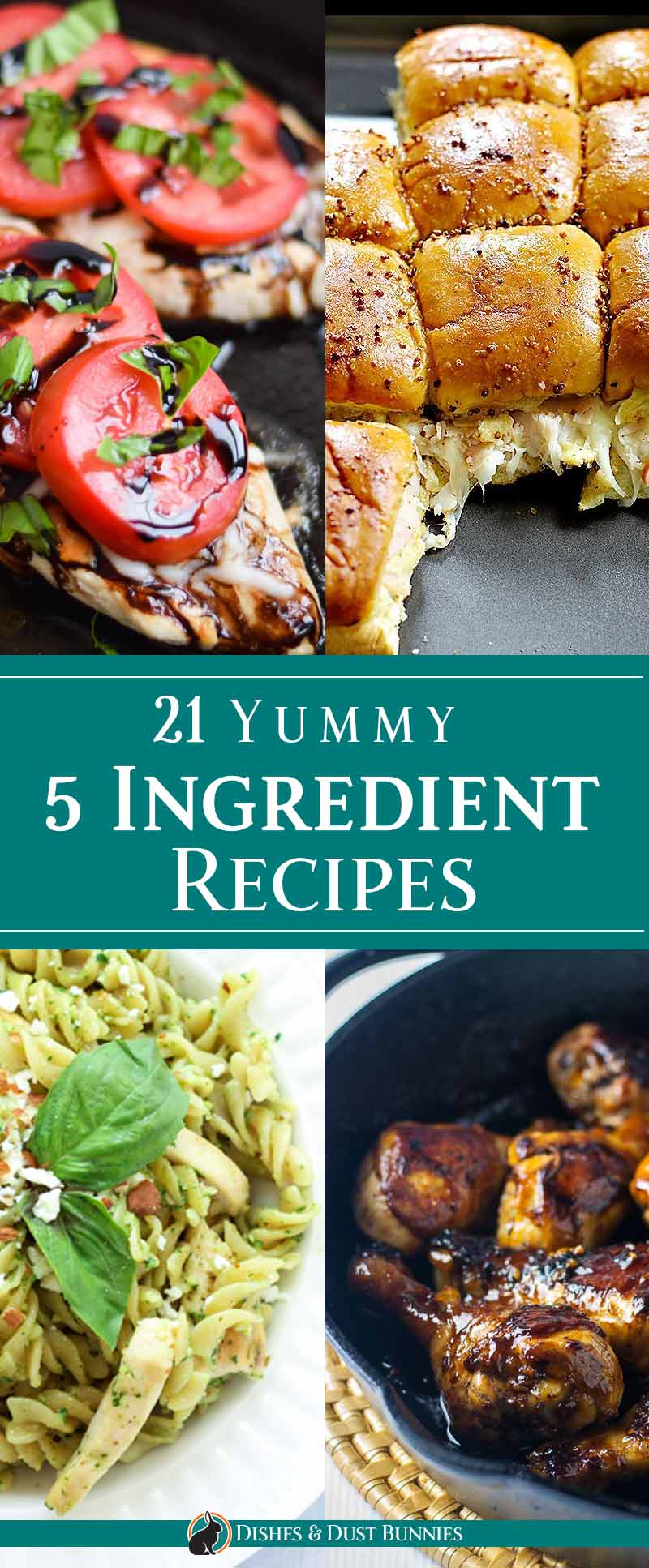 21 Yummy 5 Ingredient Recipes - dishesanddustbunnies.com