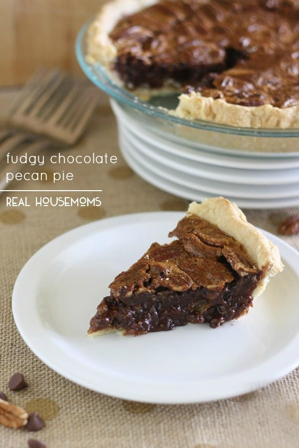 Fudgy Chocolate Pecan Pie form Real House Moms