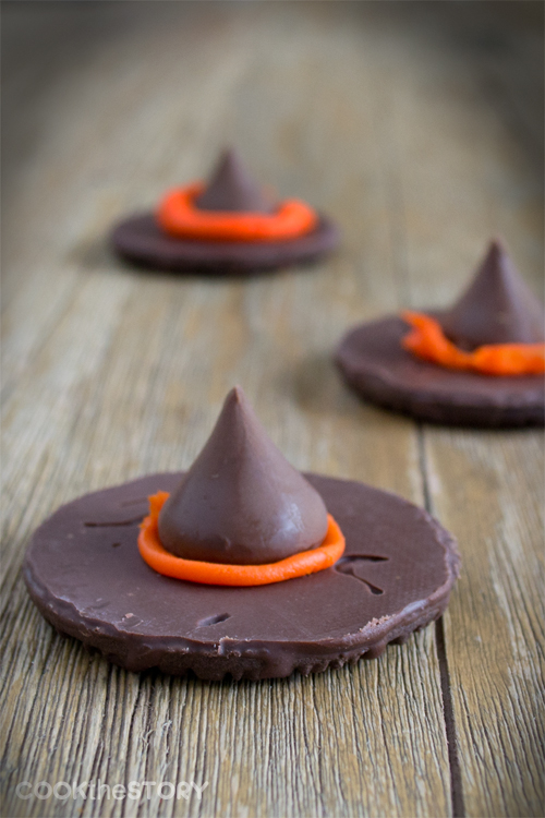 Chocolate Witches' Hats: An Easy Halloween Treat from Cook the Story