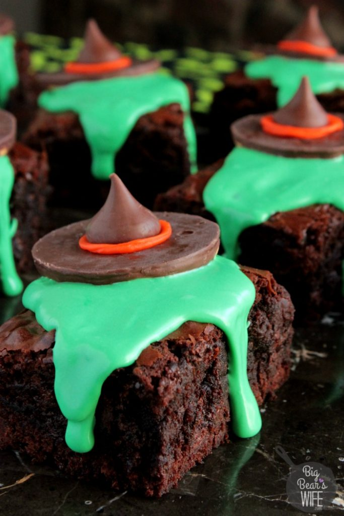 Melting Witch Brownies from Big Bear's Wife