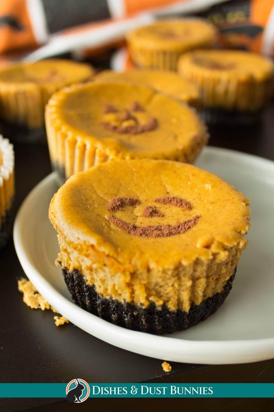 Pumpkin Cheesecake Jack-O-Lanterns