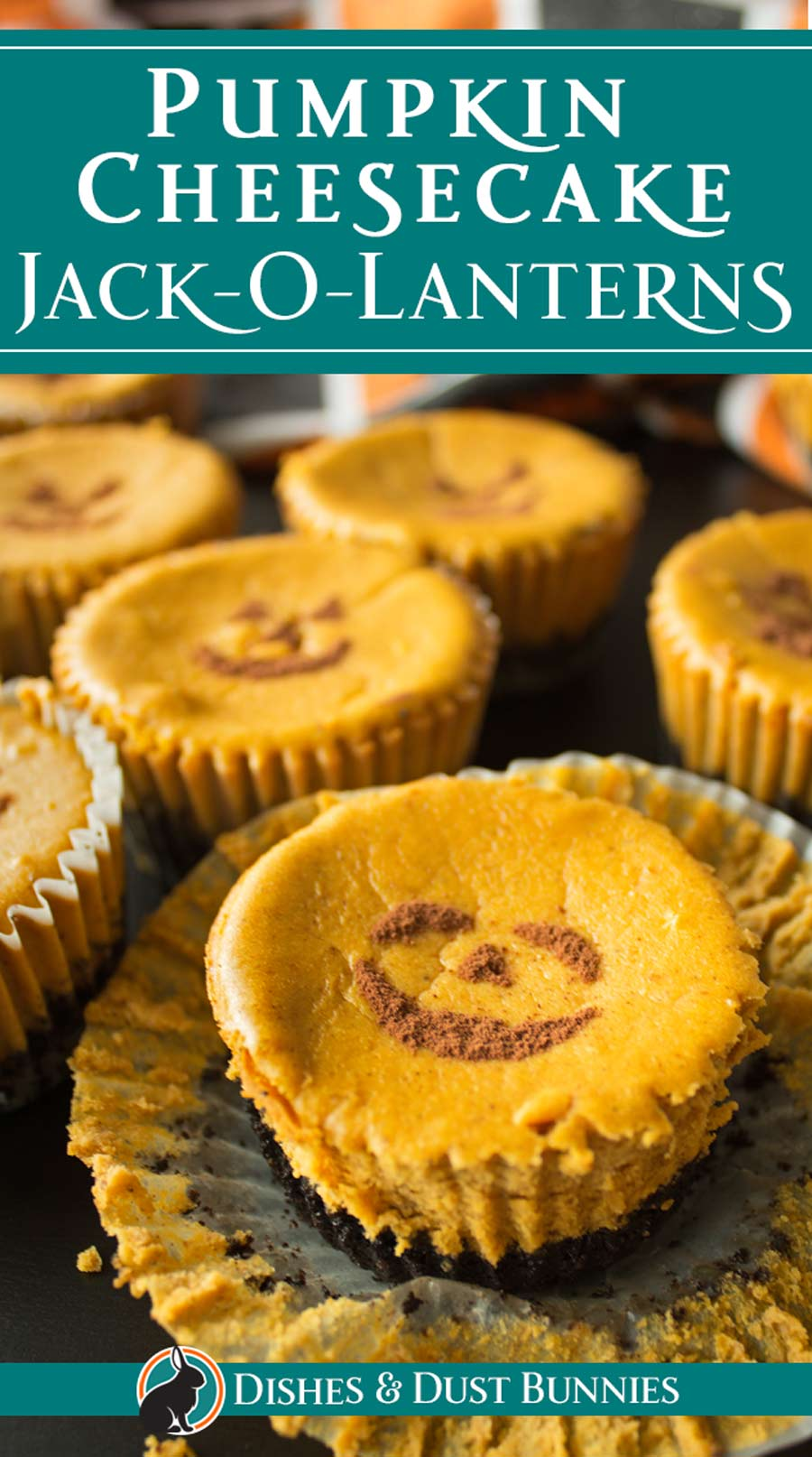 Pumpkin Cheesecake Jack-O-Lanterns via @mvdustbunnies