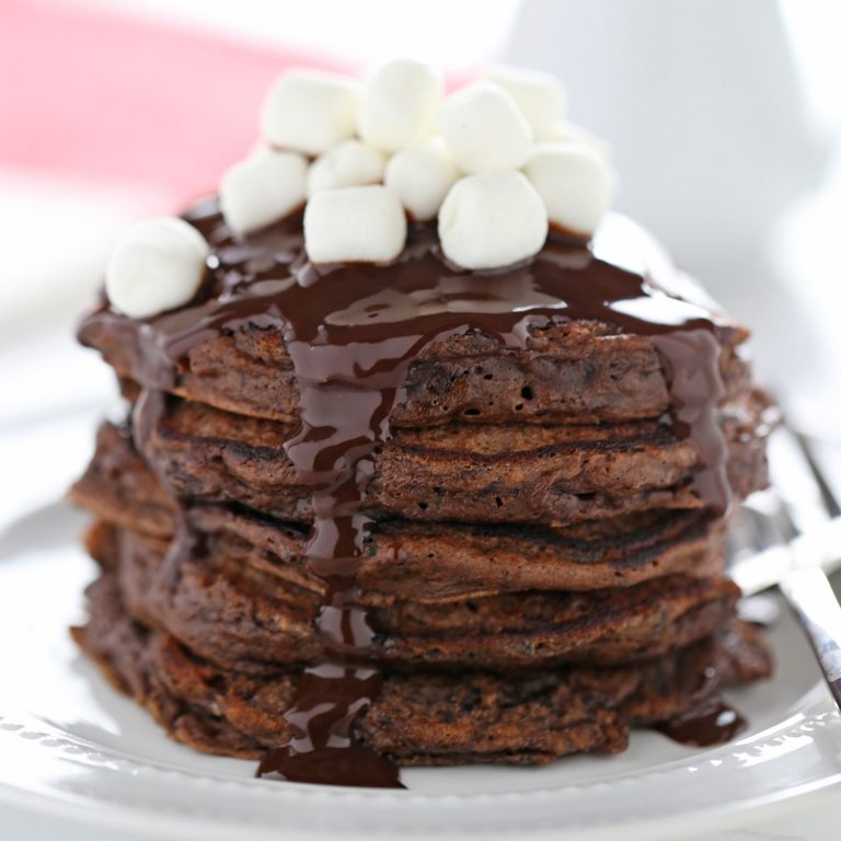 Hot Chocolate Pancakes from Handle the Heat