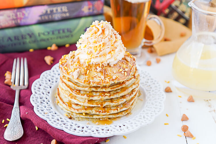 Happy Potter Butterbeer Pancakes from Sugar & Soul