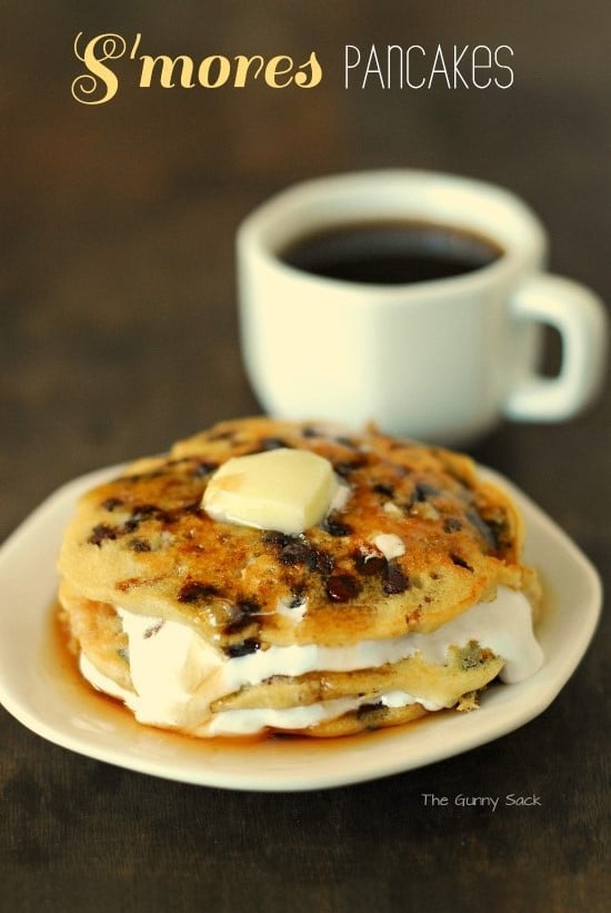 S'mores Pancakes Recipe from The Gunny Sack