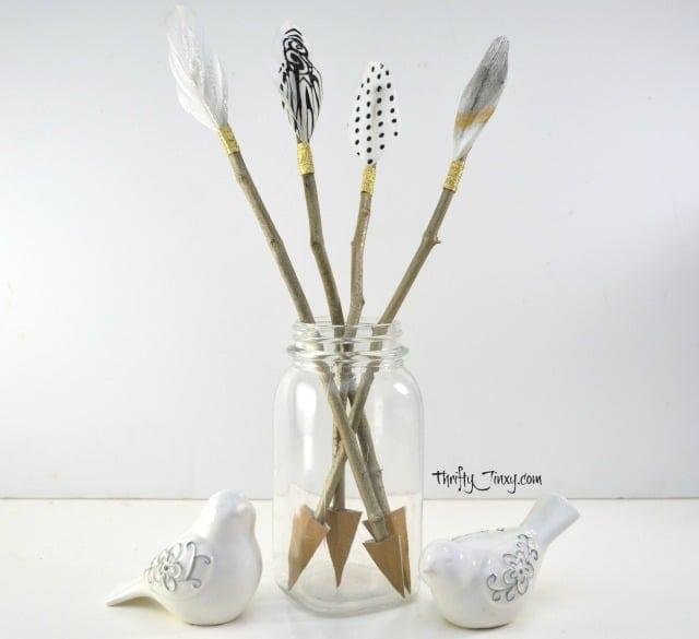 DIY Cupid's Arrow Valentine Decor Craft from Thrifty Jinxy