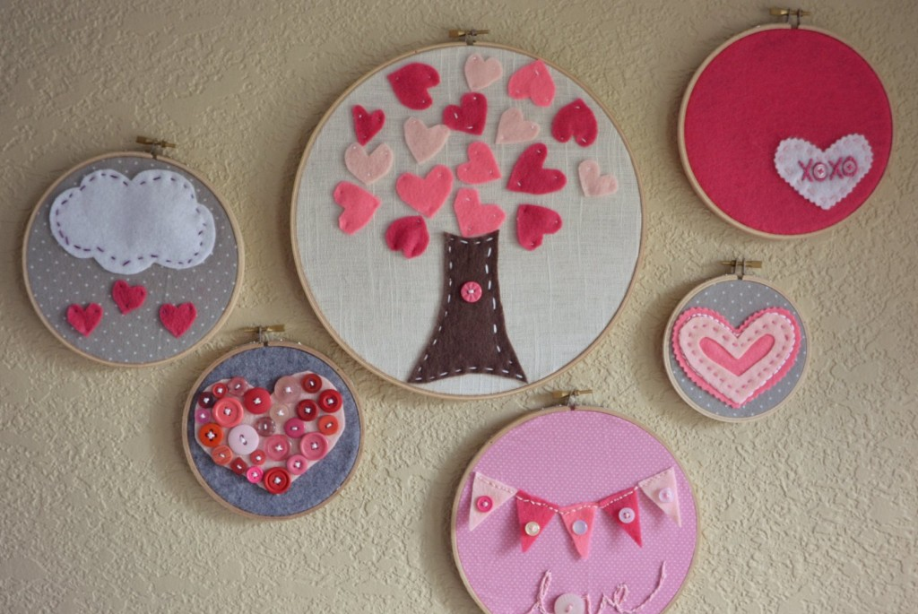 Valentine's Day Embroidery Hoop Art from Living Well Spending Less