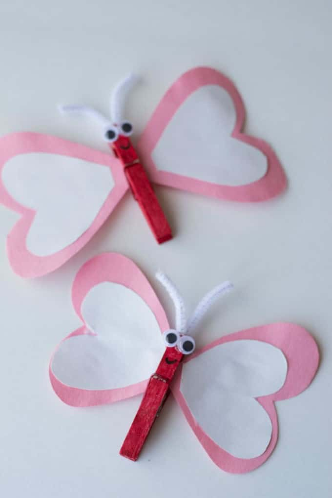 Heart Butterfly Craft from Gluesticks & Gumdrops