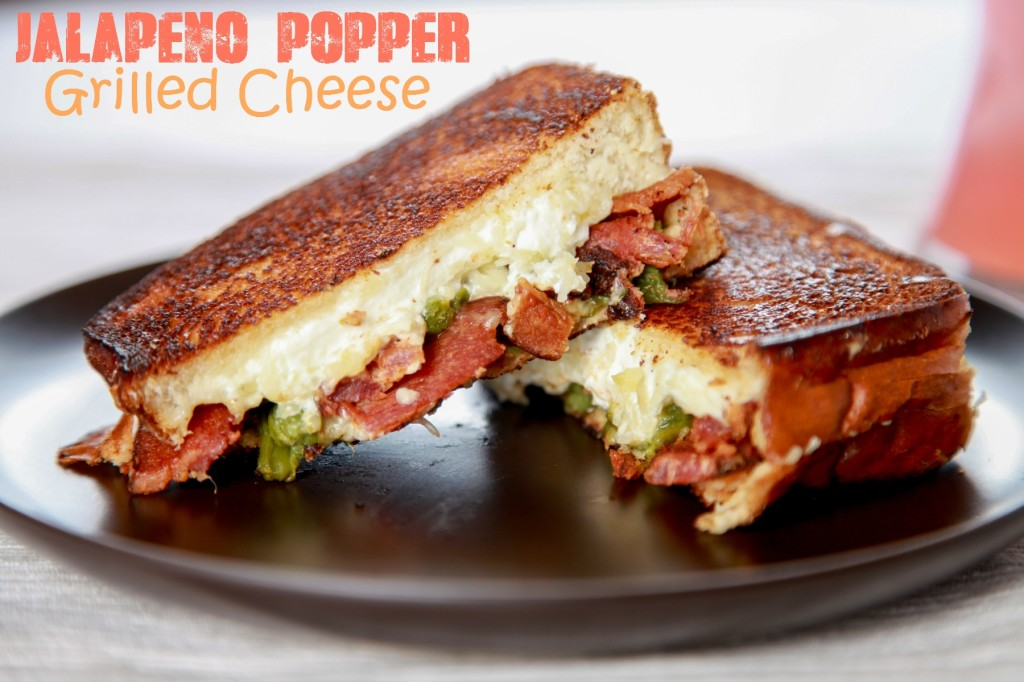 Bacon Jalapeño Popper Grilled Cheese Sandwiches from Baking Beauty