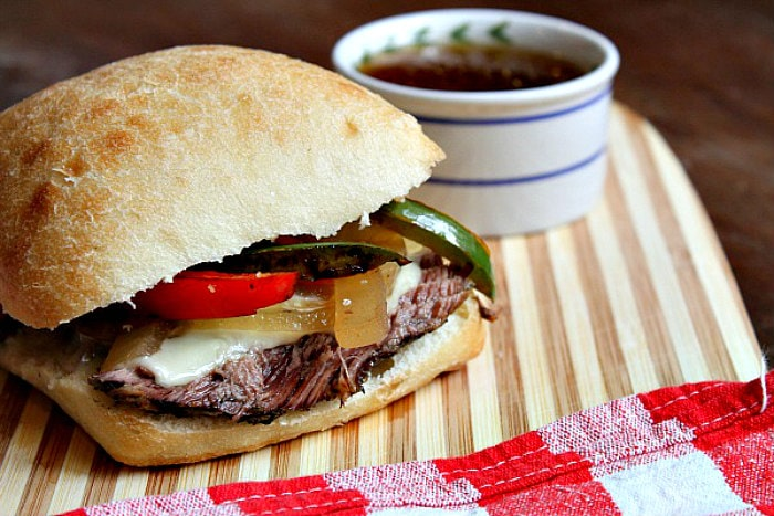 Slow Cooker French Dip Sandwiches from Recipe Girl
