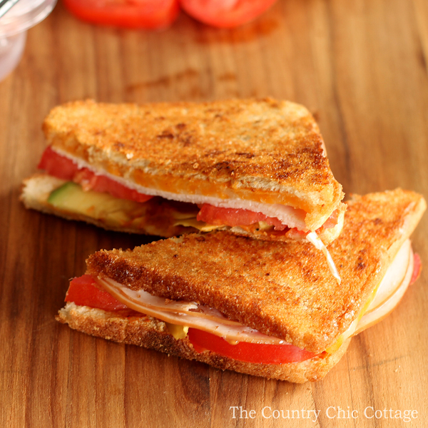 Turkey Avocado Melt from The Country Chic Cottage