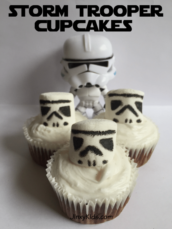 Storm Trooper Cupcakes Recipe from Jinxy Kids