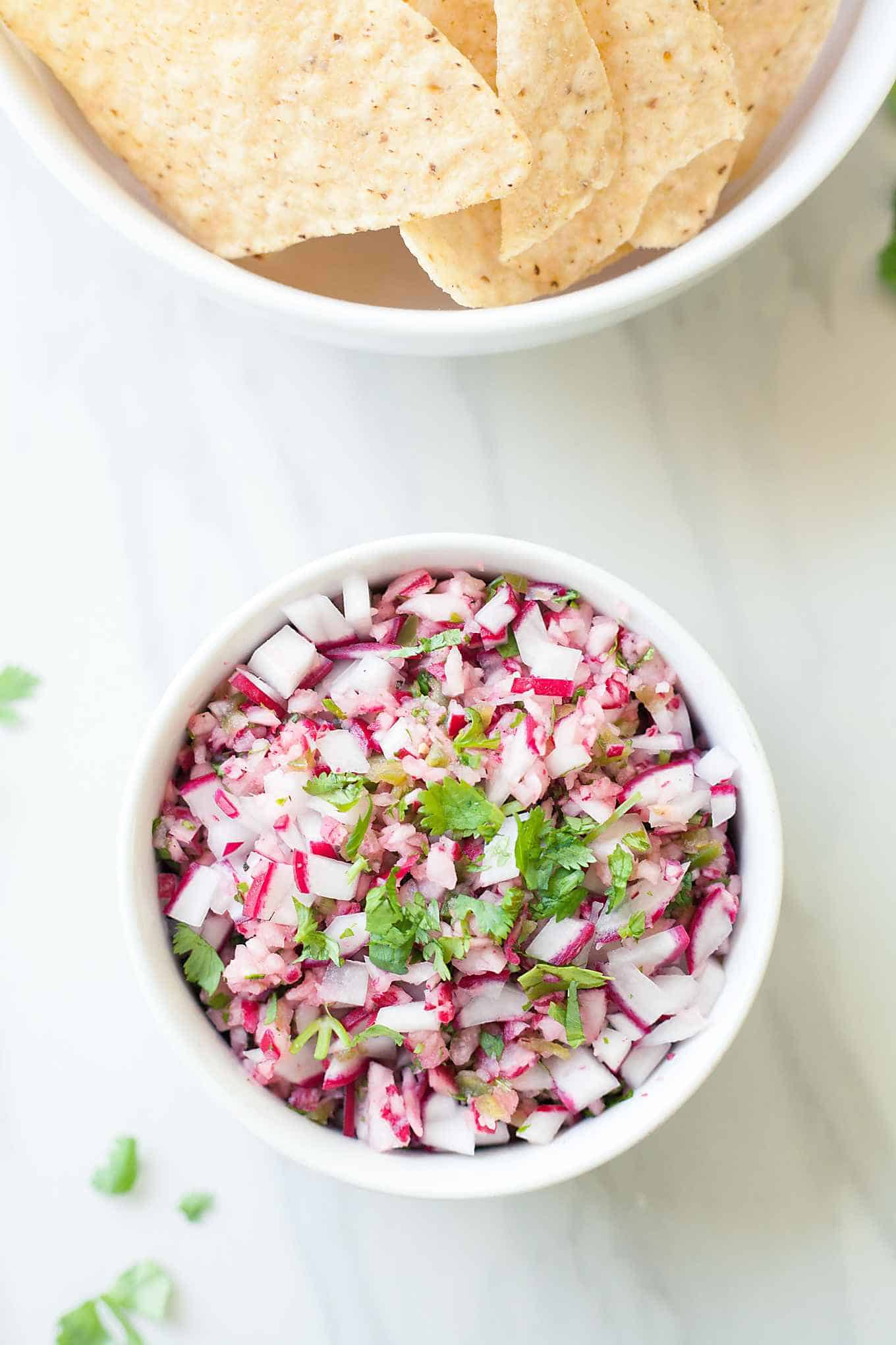 Radish Salsa from The Live-In Kitchen