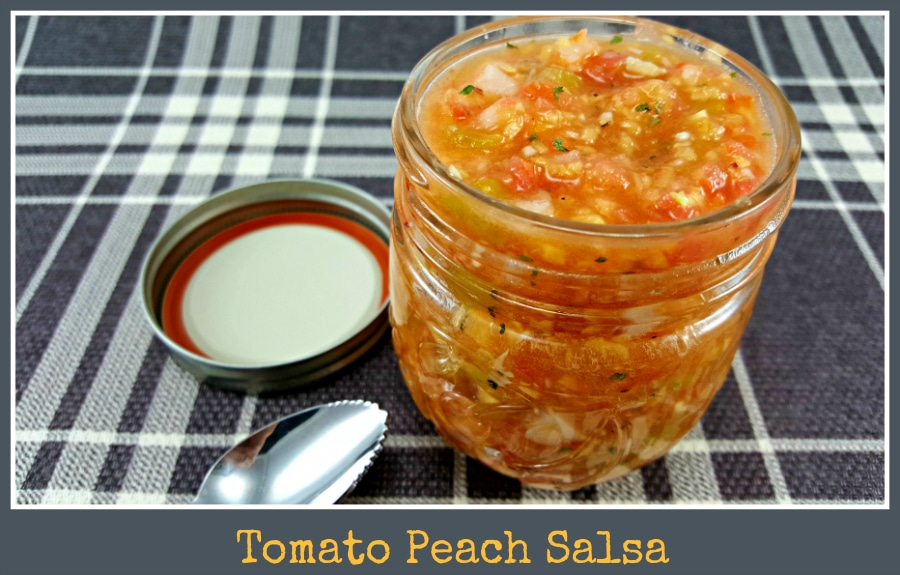Tomato Peach Salsa from Zona Cooks