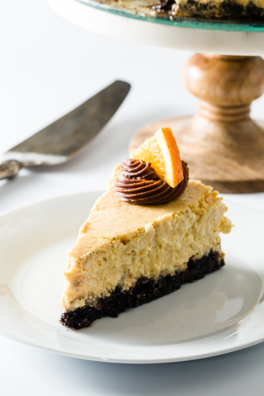 Orange Cheesecake with Oreo Crust from Cupcake Project
