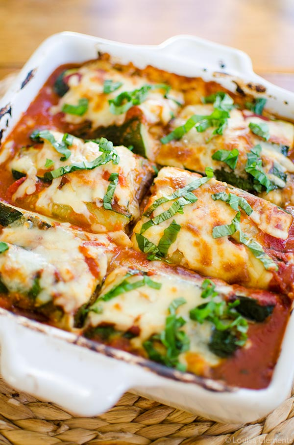 Vegetarian Zucchini and Eggplant Lasagna from Living Lou