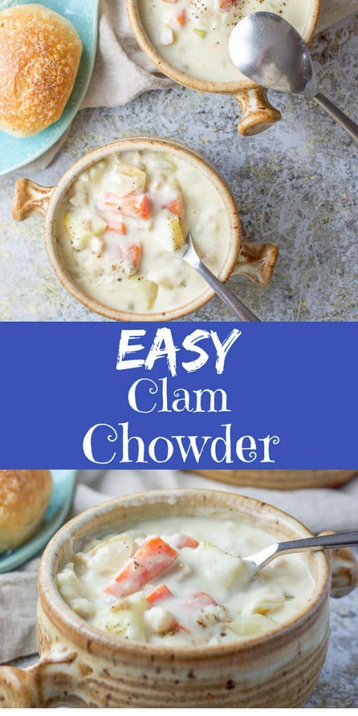Easy Clam Chowder for Pinterest -1