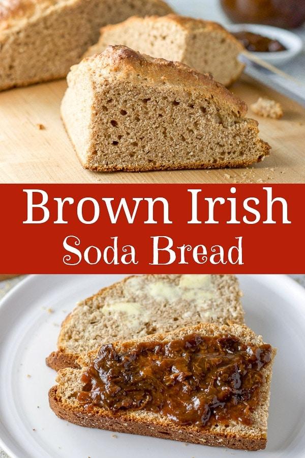 Brown Irish Soda Bread for Pinterest