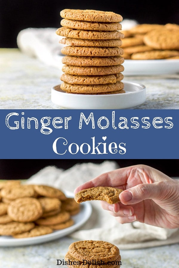 Ginger Molassas Cookies for Pinterest
