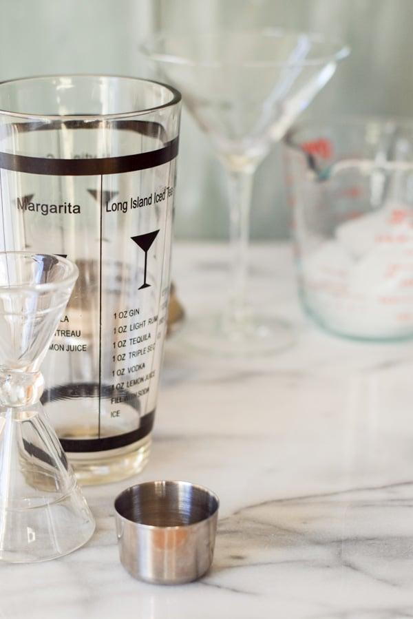 Glassware for the muddy white chocolate martini