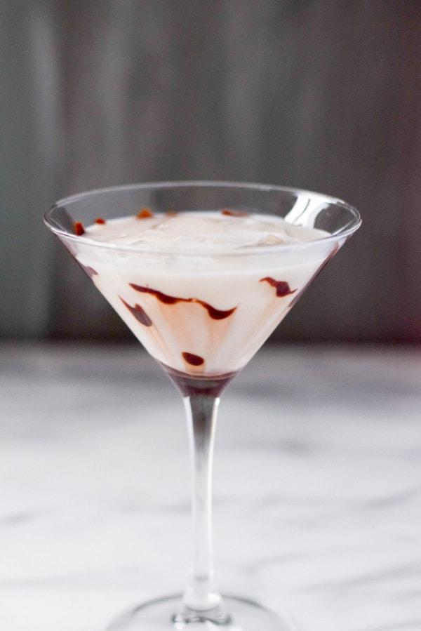 Marvelous Muddy White Chocolate Martini ready for imbibing