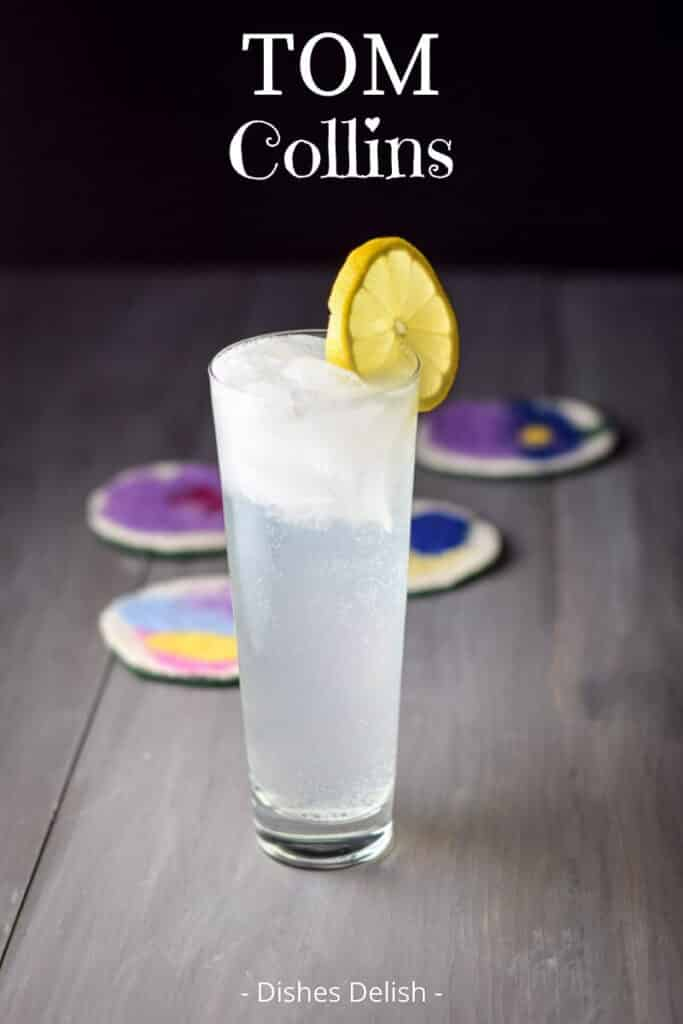 Tom Collins Cocktail for Pinterest 2
