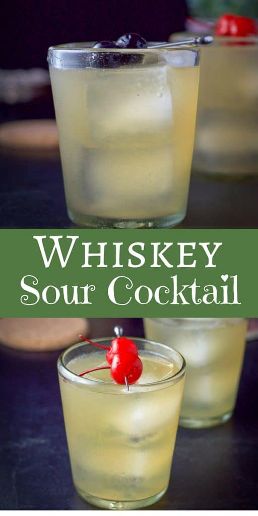 Whiskey Sour Cocktail for Pinterest