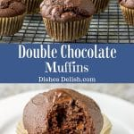 Double Chocolate Muffins for Pinterest