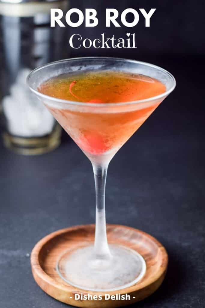 Rob Roy Cocktail for Pinterest 2