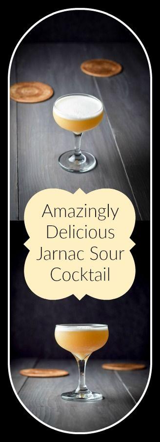Jarnac Sour Cocktail for Pinterest