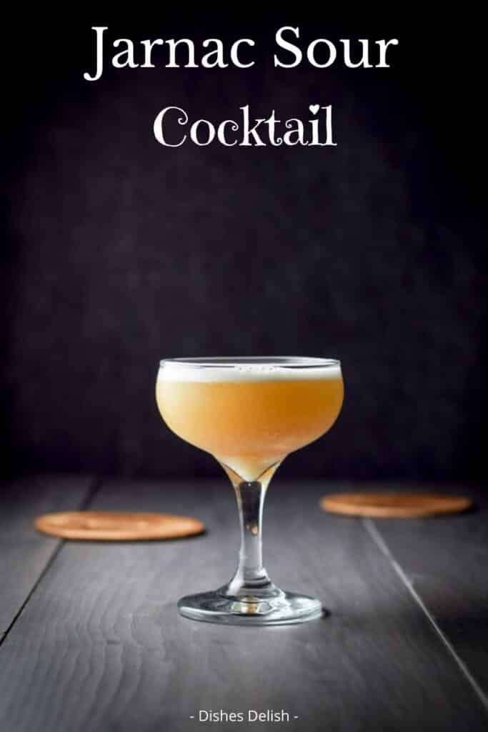 Jarnac Sour Cocktail for Pinterest 2