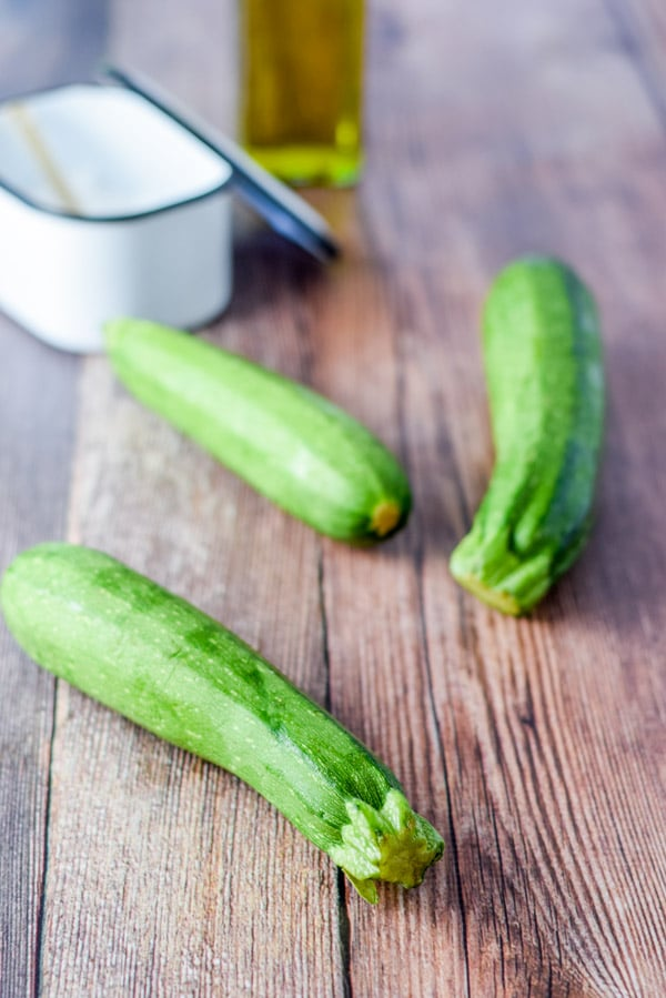 Zucchini to start off with the super easy herb roasted zucchini