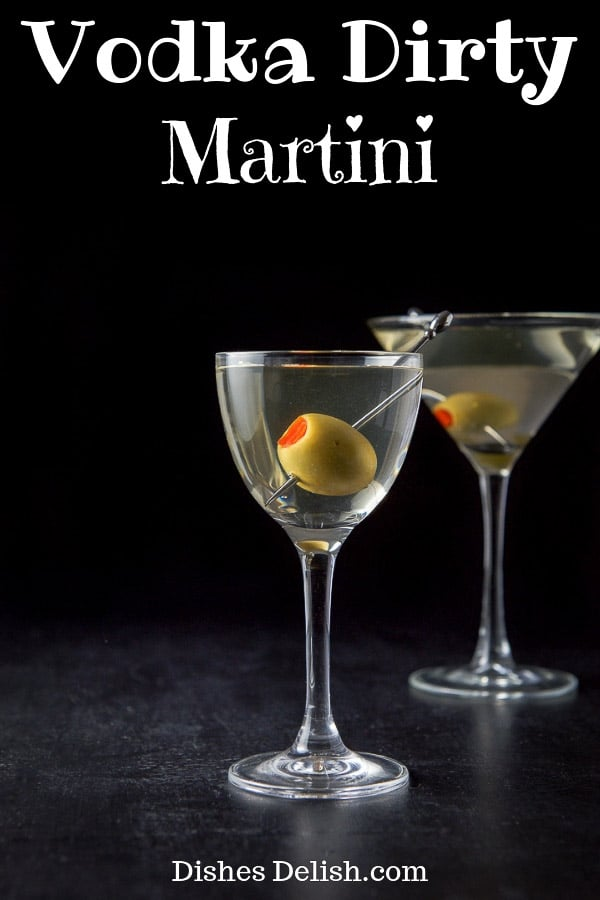 Vodka Dirty Martini for Pinterest