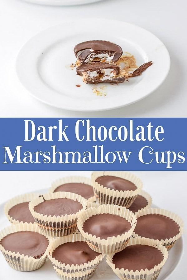 Dark Chocolate Marshmallow Cups for Pinterest 1