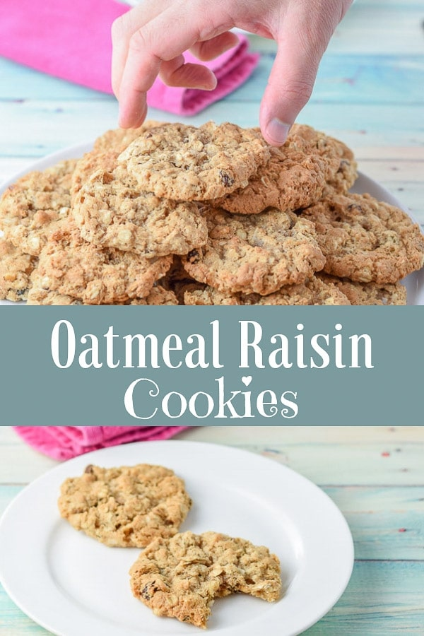 Oatmeal raisin cookies for Pinterest 1